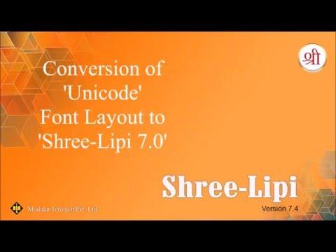 Conversion - Unicode to SL7 (Devnagari)