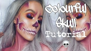 Colourful Skull Tutorial | FREAK WEEK | KeilidhMua