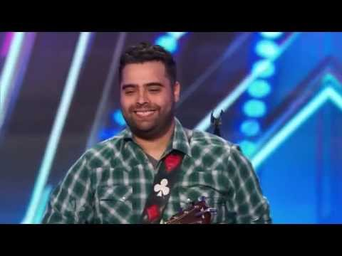 """America's Got Talent S09E06 Sal Gonzalez Wounded Vet Sings """"Ain't No Sunshine"""" by Bill Withers"""