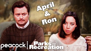 April and Ron: The Student and Master - Parks and Recreation