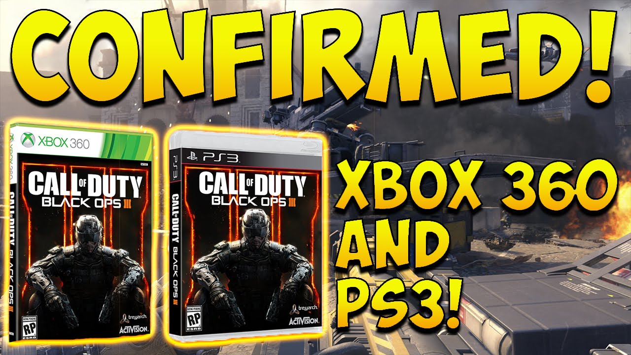 """Black Ops 3: CONFIRMED ALL CONSOLES! """"BO3 Xbox 360 & PS3 ...Video Games Xbox 360 Bo3"""