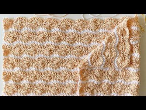 Crochet Catherine's Wheel Wave Blanket