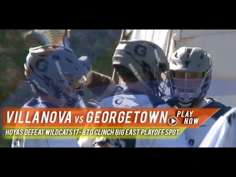 Villanova vs Georgetown | 2015 College Lacrosse Highlights