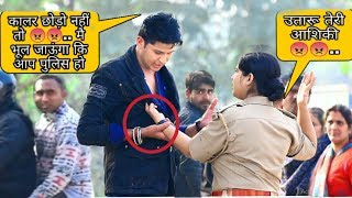 #tranding Proposing to lady police prank || by Sumit Cool Dubey ||Allahabad