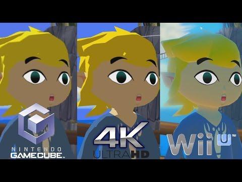 Zelda Wind Waker HD 4K - Graphics Comparison - Next Gen vs Wii U