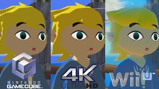 Zelda Wind Waker HD 4K - Graphics Comparison - Next Gen vs Wii U