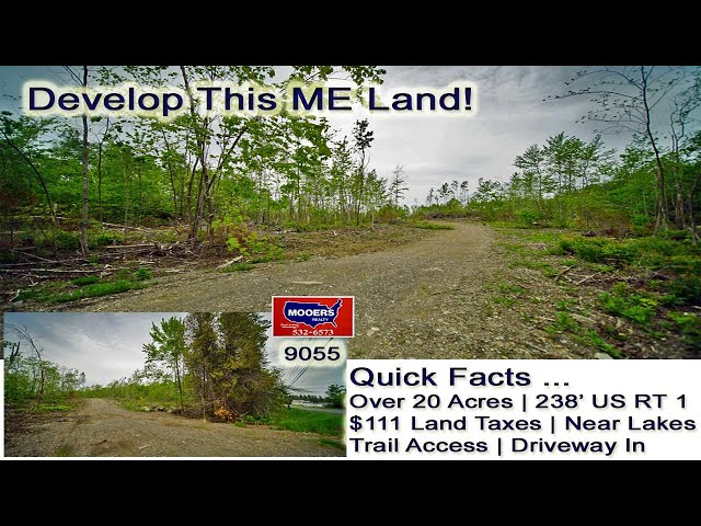 Maine Land For Sale Cary ME | Over 20 Acres To Develop MOOERS REALTY 9055
