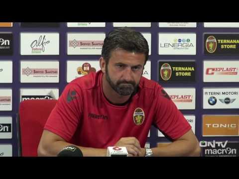 ONTV: Conferenza stampa Christian Panucci pre Ternana-Pordenone