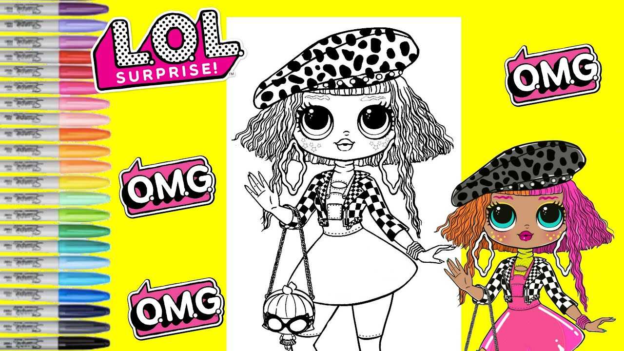 lol surprise coloring book page neonlicious lol surprise o