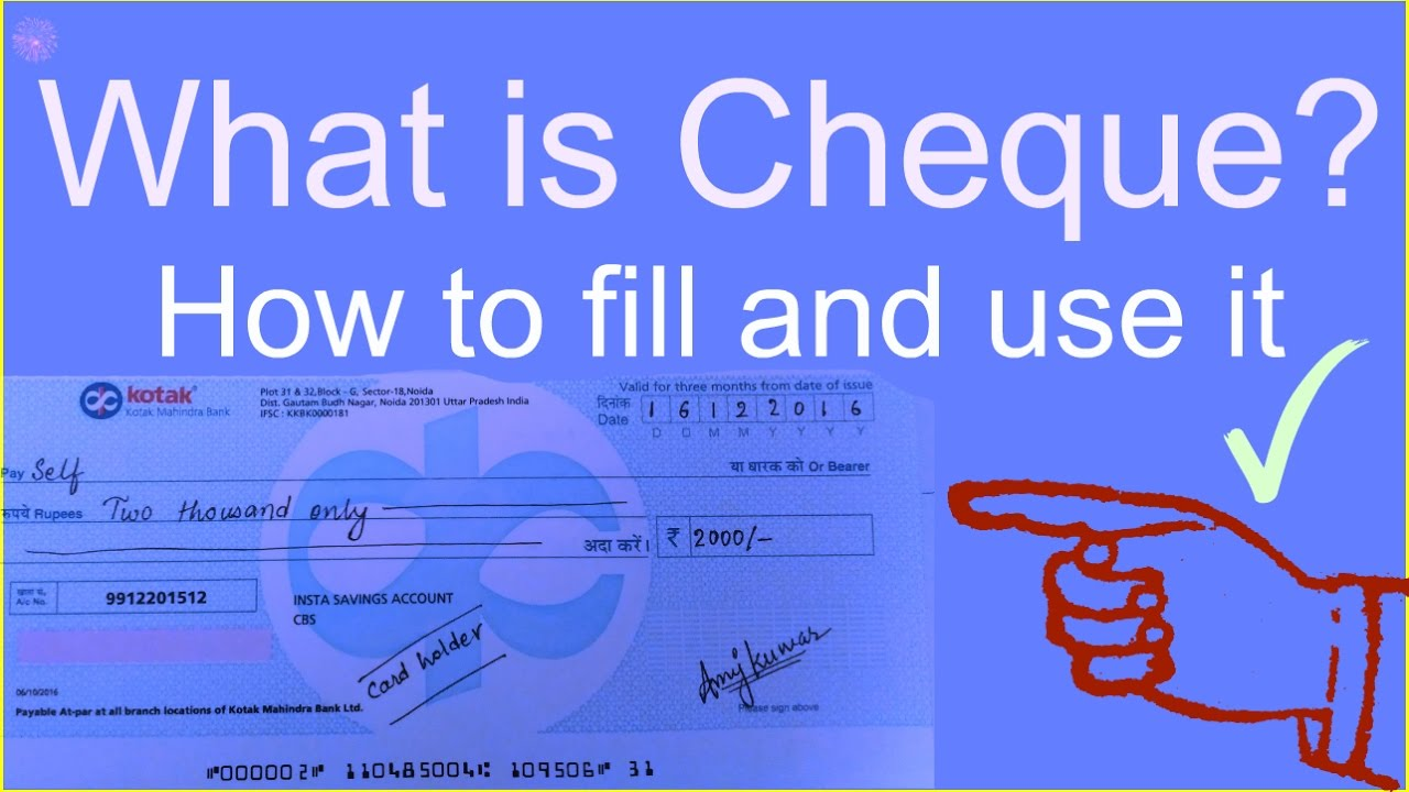what a cheque looks like