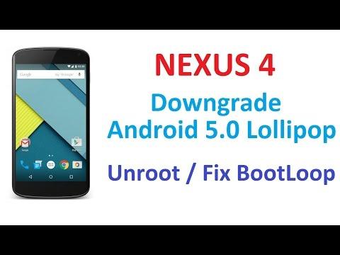 Downgrade ANY Google Nexus Phone Or Tablet - EASY METHOD
