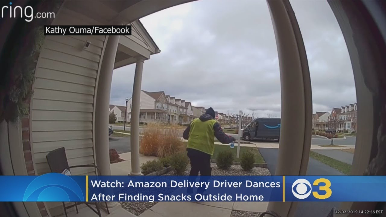 WATCH: Amazon Delivery Driver Has Best Reaction To Finding Snacks Outside Delaware Home