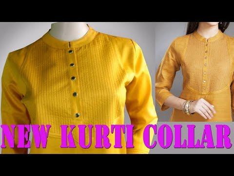 Collar Neck Design with Thread work, Round collar cutting and stitching Malayalam