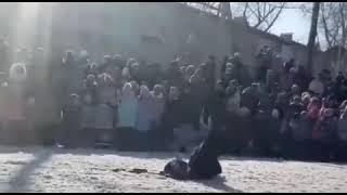 """Показательные выступления КДЦ """" СИМУРАН""""  и клуба """"Спецназ ШОУ"""" на Масленицу г. Бийск."""