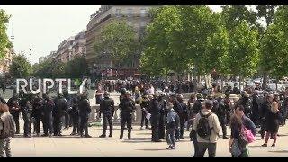 LIVE: Yellow Vests stage 'Black Spring' demo in Paris amid lockdown easing