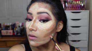 Clown Contouring Highlight & Contour - Sugar Skull How I Clown Contour #clowncontour