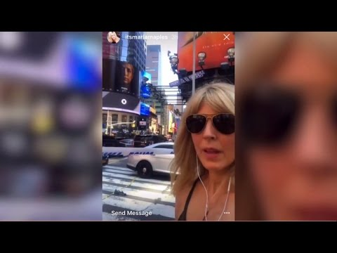 See The Selfie Trump's Ex Marla Maples Took At Times Square Crash Site