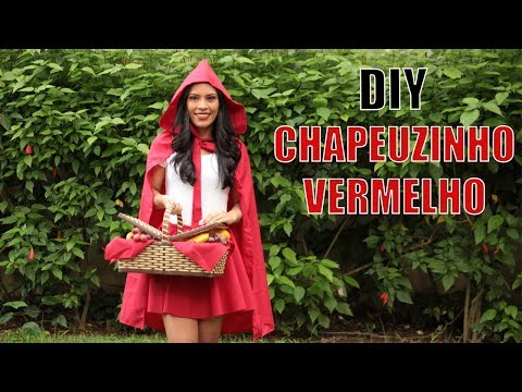 DIY - HOW TO MAKE LITTLE RED RIDING HOOD COSTUME (NO SEW)