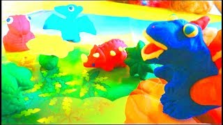 Dinosaurs Play Doh Stop Motion T-Rex Dinosaur animation by Malika