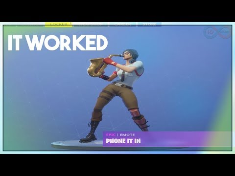 I *SLOWED DOWN* Fortnite Phone It In Emote And It Sounds AMAZING (Fortnite Battle Royale) 10 Hours