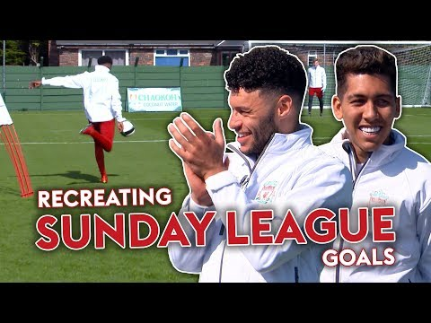 Liverpool Players RECREATE Sunday League Goal! | Oxlade-Chamberlain, Firmino & Woodburn 🔥