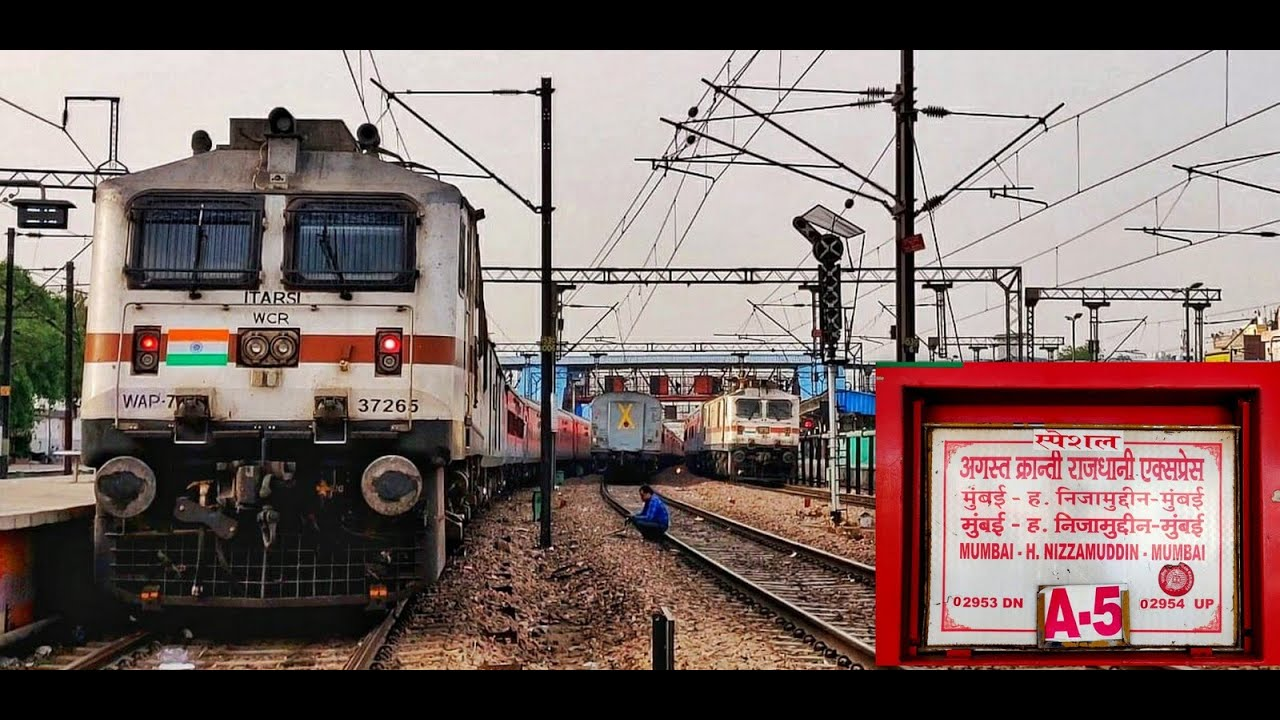 August Kranti Rajdhani Express | Journey Highlights & The Three Mumbai Rajdhani Express Trains