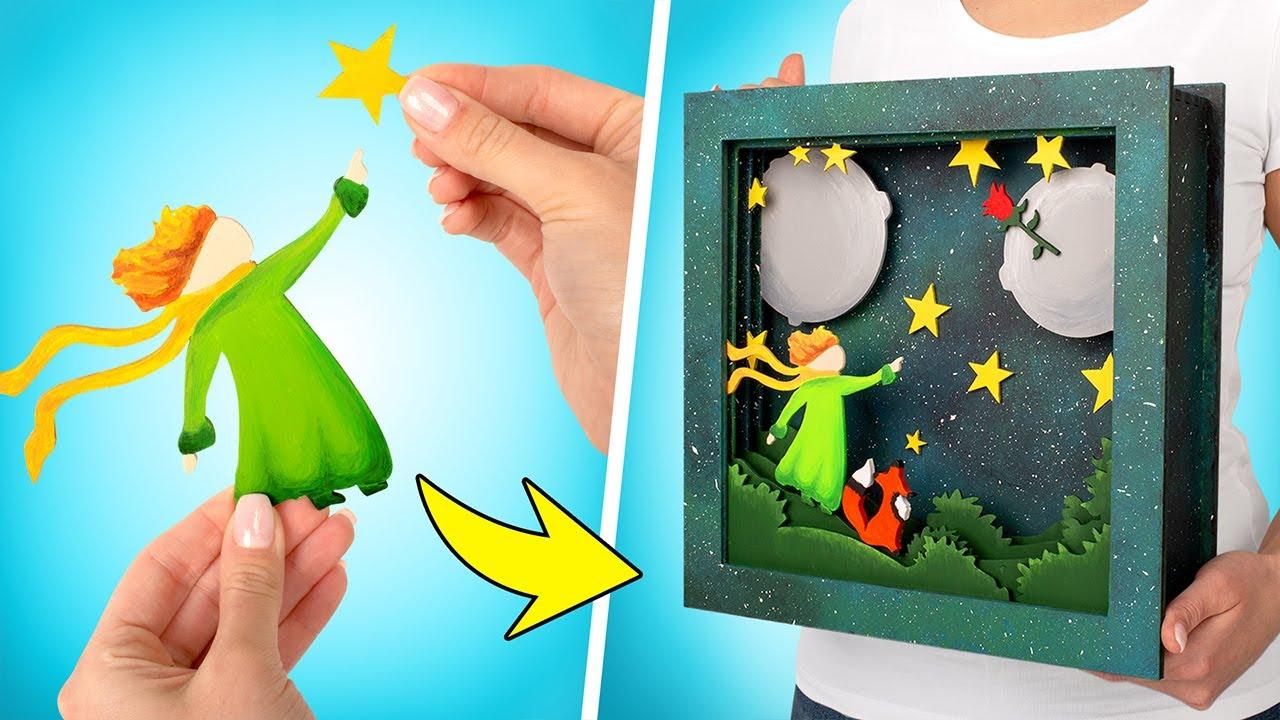 """Luminária 3D de Madeira, Inspirada no """"Pequeno Príncipe"""""""