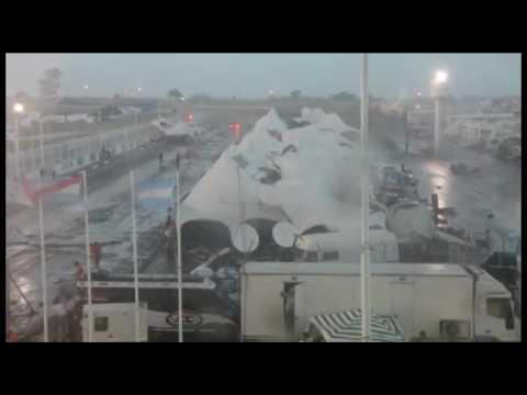 Registran un tornado en Argentina