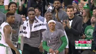 Isaiah thomas scores 36 points as the celtics rally from six-point deficit in overtime to beat clippers 139-134.