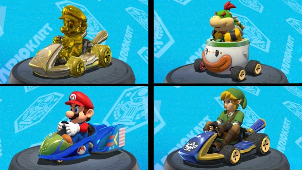 Mario Kart 8 Deluxe All Characters And Vehicles