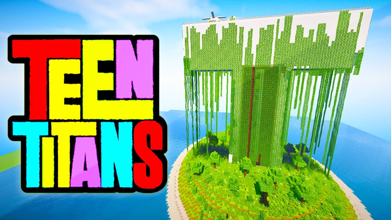MINECRAFT: Abandoned Teen Titans Tower (Command Block House/Command Block Creations)