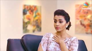 Trisha talks about Asin during an Interview
