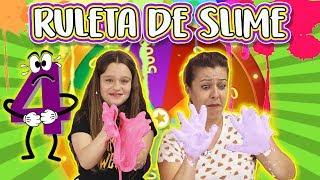 RULETA de slime 4 | SLIME roulette |Qué slime me tocará hacer? Con una suscriptora!!