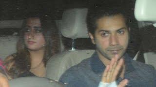 Varun Dhawan With Girlfriend Natasha Dalal At Karan Johar's Birthday Party 2017