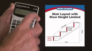 Construction Master Pro (Metric) Riser Limited Stair Layout How To