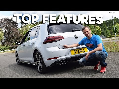 2018 Golf R in WHITE SILVER   Top Features