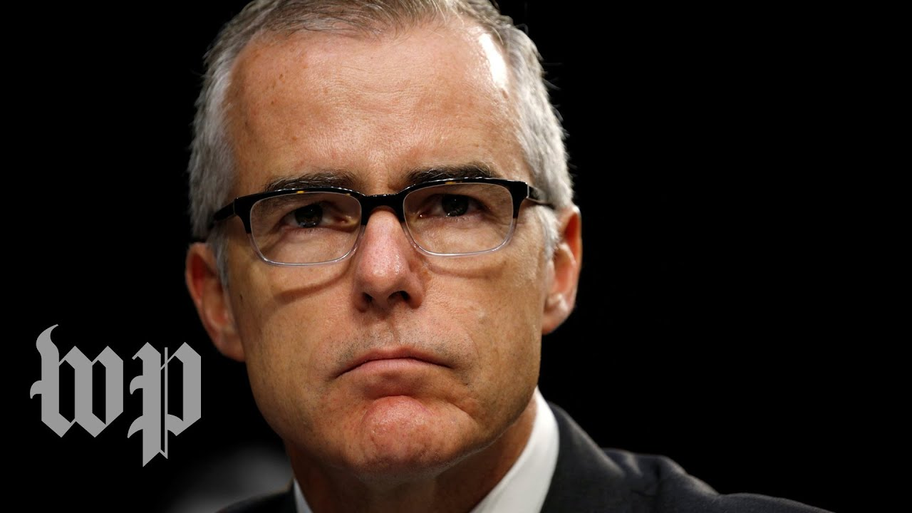 Fired FBI official McCabe says Justice Department considered asking Cabinet to ...