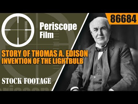 STORY OF THOMAS A. EDISON  INVENTION OF THE LIGHTBULB & BIOGRAPHY SHORT MOVIE 86684