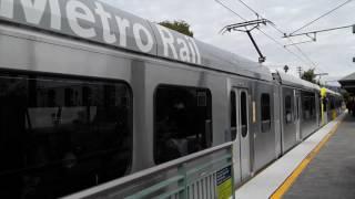 Metro gold line p3010 departs highland park