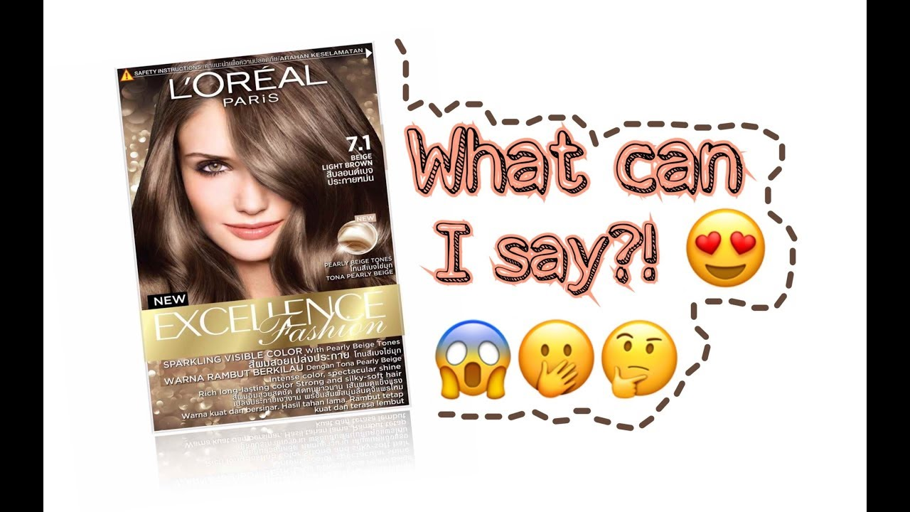 Loreal Beige Light Brown 7 1 First Time