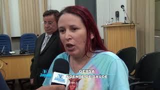 Geysa expõe sua satisfação pelo reajuste salarial dos agentes de saúde