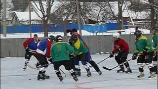 Хокей Кобеляки - Перегонівка перша гра 2012 сезону
