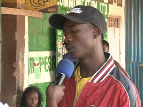 Jose of Mathare area, Nairobi on the Kenyan constitution during Ghetto Radio's Serious Request 2015
