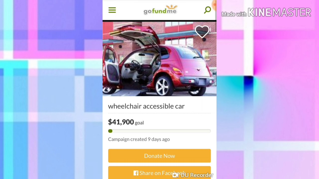 ♿ Wheelchair-accessible car GoFundMe for a great cause!