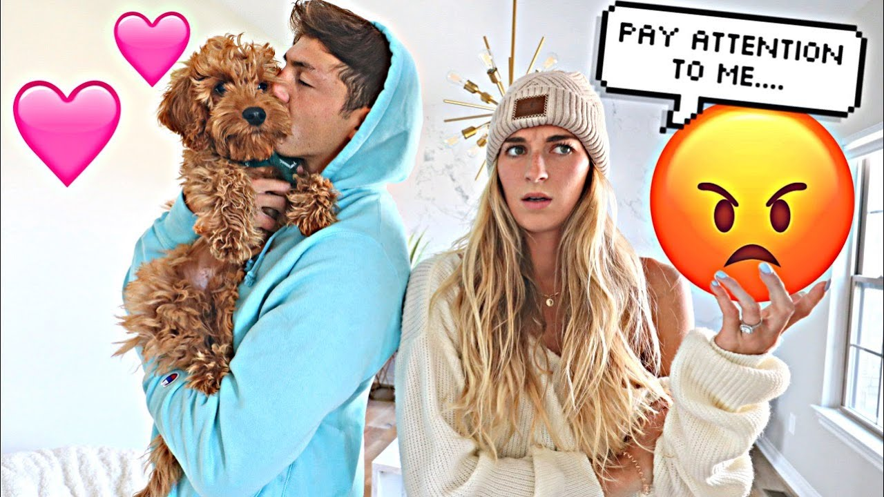 Making My Fiance Jealous With Our Dog! *FUNNY*