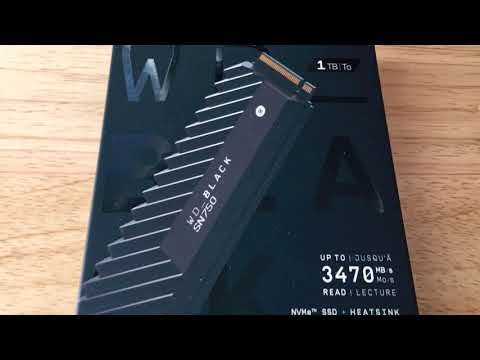 Western Digital Black SN750 NVMe SSD 1TB & Heat Sink Unboxing 8-2-19