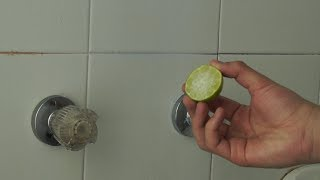How to Clean the Bathroom Tiles with Lemon- HomeArtTv by Juan Gonzalo Angel