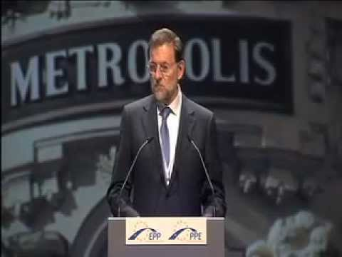 PM-elect Mariano Rajoy at the EPP Congress in Marseille, France