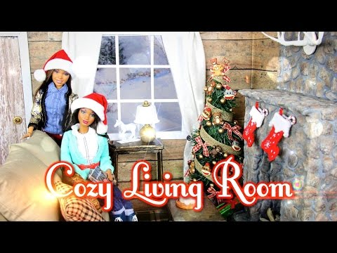diy---how-to-make:-cozy-doll-living-room-&-realistic-fireplace---handmade---doll---crafts