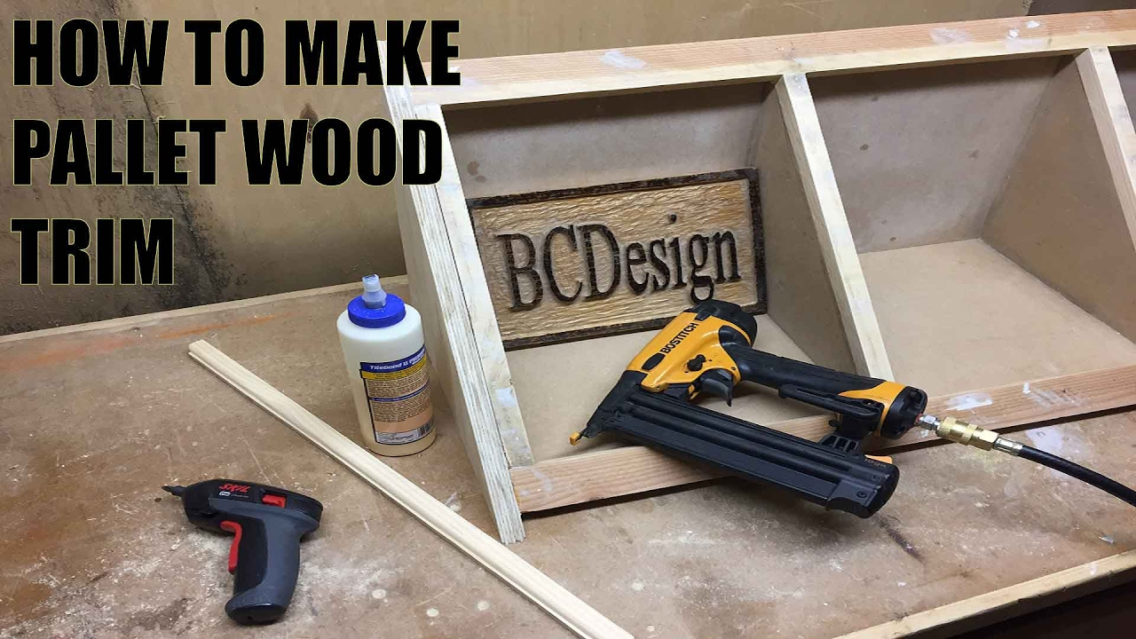 How To Make Pallet Wood Trim - YouTube